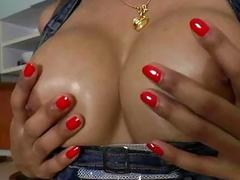 Sexy shemale Benz ass licked and fucked