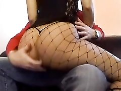 Foreplay with girl in a corset