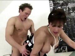British Lady Sonia rides cock