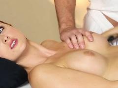 Babe sucks masseurs cock