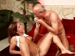 Nasty Teen Bitches vs Horny Grandpas
