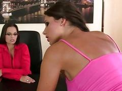 Hot lesbian sex with Eve Angel and Zafira