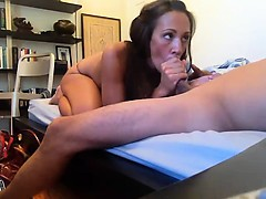 Hot girl friend provides blowjob that is strong