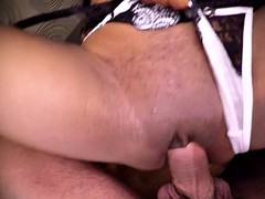 Ebony with big lips gets plowed in a dressing room