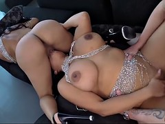latina bombshell twins sheila ortega and kesha ortega in crazy 3some