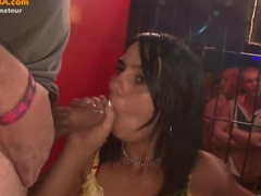 Amateur public blowjob in swinger club