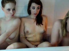 Lesbian Threesome In The Bath Tub