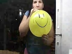 balloon blowing up