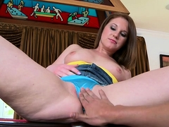 Sexy bitch gets slammed by large cock in different poses