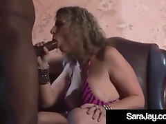 Hefty Cougar Sara Jay Screwed By Hooded Ample Ebony Manstick In Manor