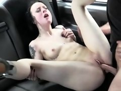 Damn hot sweet lady have sex outdoors