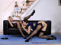 British milf masturbating while in uniform
