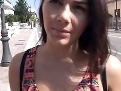 Babe earned cash by fucking in public