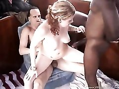 Girl on their boat gets naked for threesome
