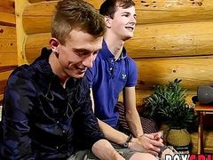 Cute twink lovers connect thru sixtynine before anal fun