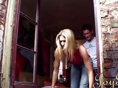 Steve meets a sexy blonde