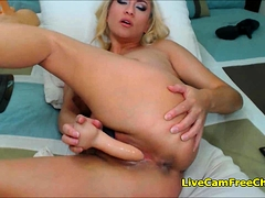 Hot Blonde Babe With Big Boobs Can't Stop Masturbating
