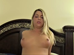 jenna leigh knows how to make a fortunate lover's cock stiff