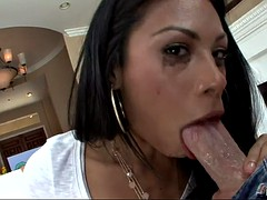 cassandra cruz deep throats his wide cock till her eyes water