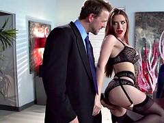 Stunningly hot milf slut is addicted to cum swallowing