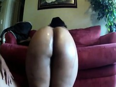 Ebony Phat Oiled Ass Fucked Doggystyle