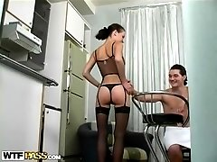 Lingerie Stockings Sex with DP Anal