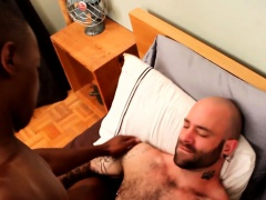 Black stud riding bears cock