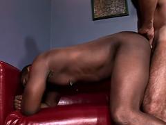 Black gay amateur loves that  BBC in his anus