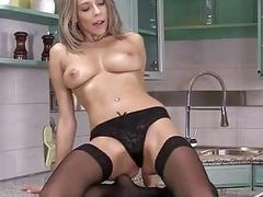 Blonde Lucy Spreads Her Pussy