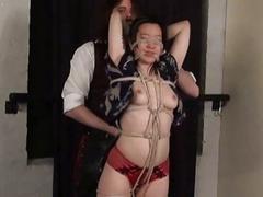 Asian bondage babe Devil tied up and dominated hard BDSM