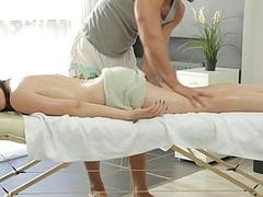Darling gets a plowing after oil massage