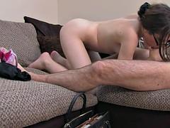 Spex casting babe spunked on shavedpussy
