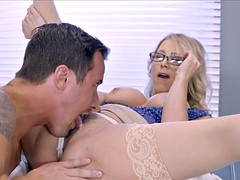 Big tit blonde doctor is a whore