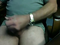 Mature guy masturbating