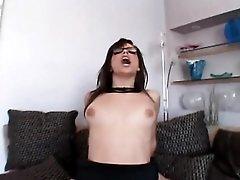 Bobbi Starr rides hard dick in her glasses