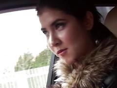 Hot Czech babe Lady D fucked in the car