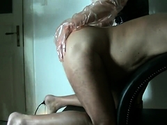 Kinky guy takes a fist up his ass and receives a handjob
