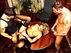 Classy fuck film with glamorous babes boned