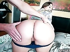Dani Daniels tries on panties to tease her ass