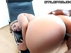 Beautiful girl with awesome tits tries some big black dick
