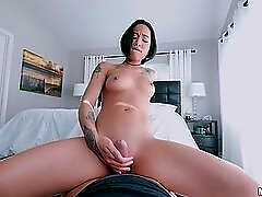 Honey Gold gets on her knees and sucks your cock
