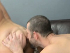 Bear licks and penetrates tight ass