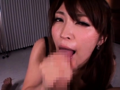 Perverted beauteous cutie widens legs gets poked