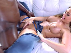 addison lee in ripped jeans enjoys interracial anal fucking