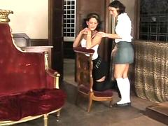 two french teens girls lesbian fun