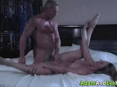 Milf and babe swap spunk
