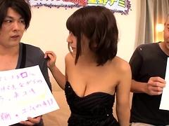 Enchanting Japanese girl with big tits enjoys a stiff cock
