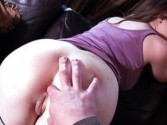 Curvy chick tries out anal sex on camera
