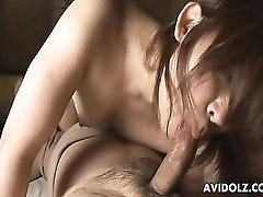 Cute Asian climbs on top for 69 sucking action