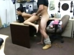 Chick pawns her old mink coat and banged by horny pawn guy